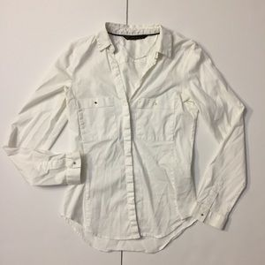 Zara basic classic white Button Down shirt slim